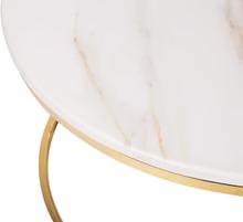 Couchtisch weiß/Gold Marmor Optik CORAL