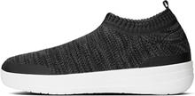 Fitflop Uberknit Slip-On Sneakers Black Soft Grey