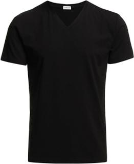 M. Lycra V-Neck Tee T-shirt Sort Filippa K