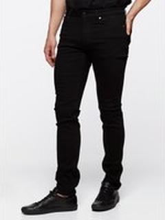 Slim stay black jeans - Svart