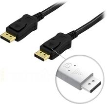 DisplayPort skjermkabel, 20-pin output - output, 2m, svart