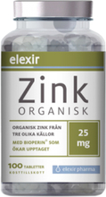 Organisk Zink 25 mg, 100 tabletter
