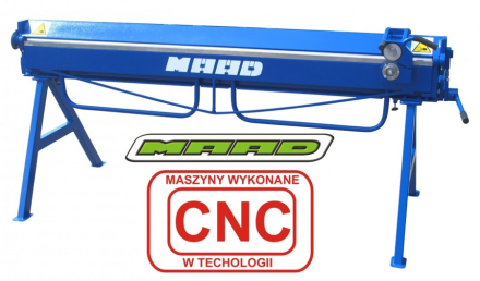 MAAD ZG-2000/0.7 ZAGINARKA GIĘTARKA KRAWĘDZIARKA DEKARSKA DO BLACHY Z CIĘCIEM MAAD ZG-2000/0.7 mm