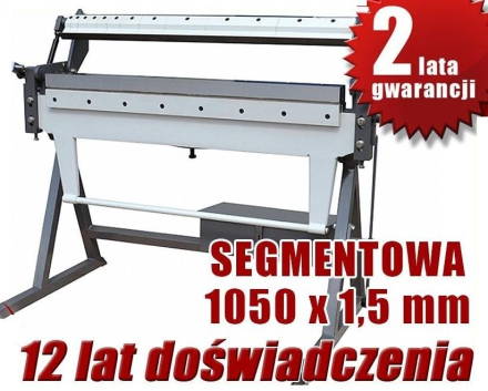 ZAGINARKA GIĘTARKA SEGMENTOWA DO BLACHY MAKTEK W1,5X1050mm EWIMAX