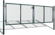 Hageport 289x125 cm/306x175 cm stål grønn