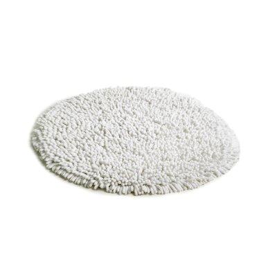 Rasta matto pyöreä valkoinen