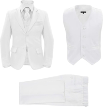 b4874c48 vidaXL Dress for barn 3 deler størrelse 104/110 hvit