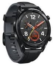 Watch GT 46mm Black Stainless Steel Black Silicone Strap Sort