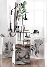 Craft paper bag Elephants, set of 3 motive