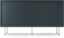 Decotique - Vogue Sideboard 136L, Grå/2G/Messing