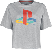 Playstation - Logo -T-skjorte - grå