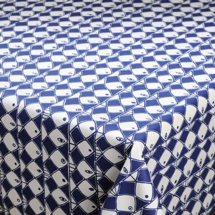 Frisco stoff blå