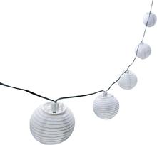 Ljusslinga Risbollar Vit LED med solcell 10-ljus