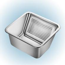 Prisma Milwaukee tvättkar till grovkök 53 x 43 cm cm med propp, rostfritt stål