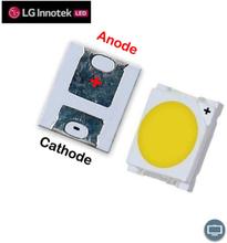 100PCS/Lot 3528 2538 3V SMD LED Beads 1W LG Innotek Cool White 100lm For TV/LCD Backlight