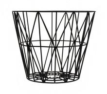 Wire kori musta pieni 40 x 35 cm