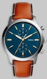 Fossil Fossil FS5279 Blue/Brown Blå