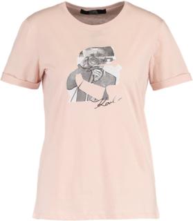 KARL LAGERFELD KARL HEAD PHOTO Tshirts print rose smoke