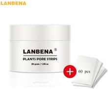 LANBENA 60Pcs Nose Blackhead Remover Deep Cleansing Nose Mask Pore Strip Black Head Peeling Mask Skin Care Best Selling