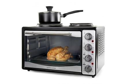 Andrew James 33 liter Mini ovn og Grill med dobbelt kogeplade