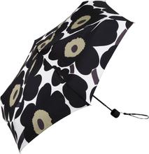 Pieni Unikko sateenvarjo valkoinen-musta-oliivi