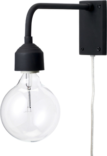 Bloomingville vegglampe sort 27 cm