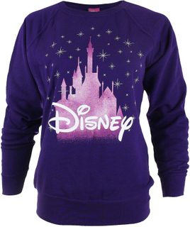 Ladies Disney Princess Disney Castle Crew hals genser i lilla med fet