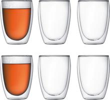 Pavina glass med doble vegg 6 stk 0,35 l