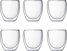 Pavina glass med doble vegg 6 stk 0,25 l