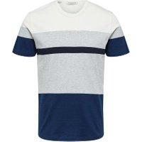 SELECTED Økologisk - T-shirt Mænd Blå - SELECTED