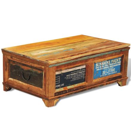 vidaXL Kaffebord/ lagringsbord laget av gjenvunnet treverk, vintage