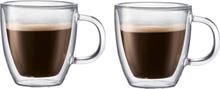 Bistro glass med dobbel vegg og hank 2-pakn. 0,15 l