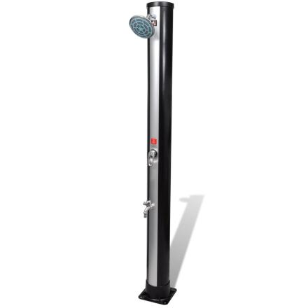 vidaXL Udendørs soldrevet bruser med brusehoved og vandhane 35 L
