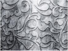 Fototapet - Silver bakgrund med blommönster - 200x154 cm