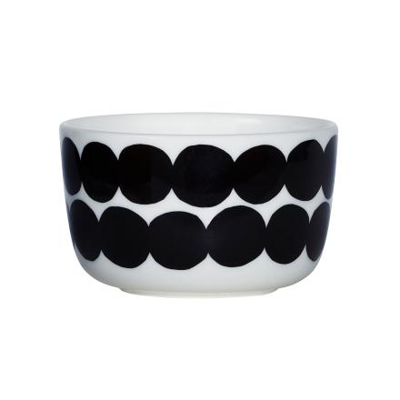Räsymatto kulho 2,5 dl musta-valkoinen