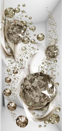Scandinavian Artstore Dörrtapet - Photo wallpaper - Bubble abstraction I - 90x210 cm