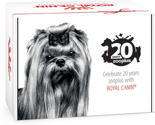 Jubileumsedition Royal Canin zooplus-Gebursdagsboks for små hunder - 1 Stk