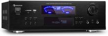AMP 5100 BT stereo-förstärkare 2x120 W + 3x50 W RMS BT svart
