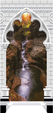 Scandinavian Artstore Dörrtapet - Photo wallpaper - Gothic arch and waterfall V - 70x210 cm