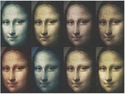 Scandinavian Artstore Fototapet - Mona Lisa (pop art) - 200x154 cm