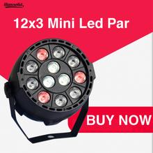 LED Par 12x3W RGBW flat Par Light With DMX512 for disco DJ colour Stage Lighting