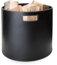 Ørskov puukori pyöreä musta valkoisin tikkauksin