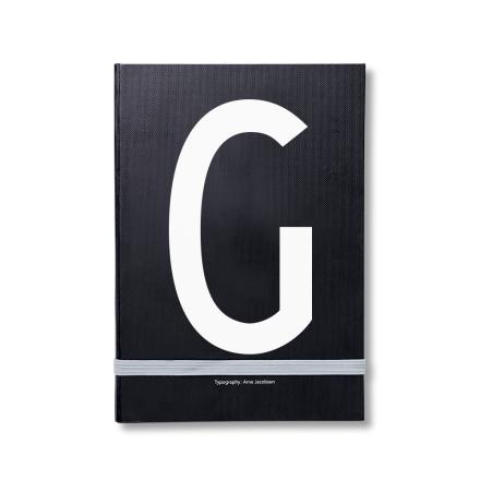 Design Letters personlig notatbok G