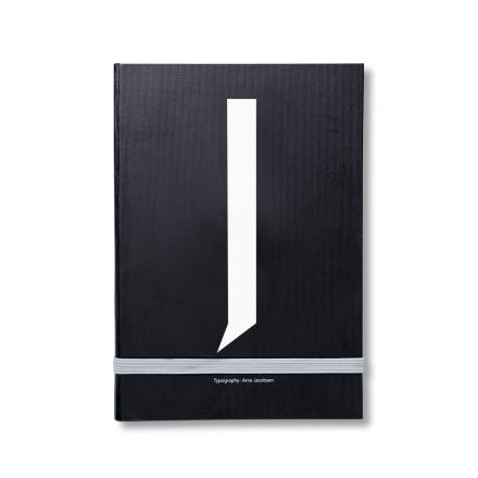 Design Letters personlig notatbok J
