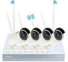 NULL 4 st Övervakningskamera med videorecorder