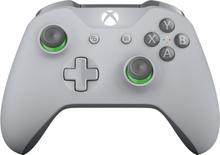 Kontroler bezprzewodowy dla konsoli Xbox — szaro-zielony