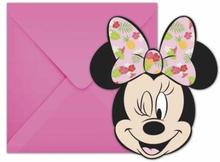 Minnie Mus Tropical Party Invitasjoner - 6 stk