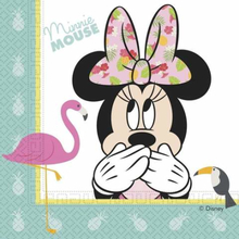 Minnie Mus Tropical Servietter - 20 stk