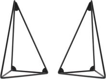 Pythagoras hyllynkannatin, 2 kpl musta