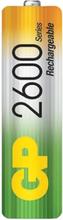 NIMH laddningsbara batterier 1V2 AA 2600MaH 2-pack